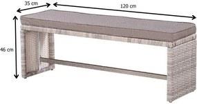 Rohová ratanová sedacia súprava Avenberg MARTINIK/PACIFIC hnědobéžová
