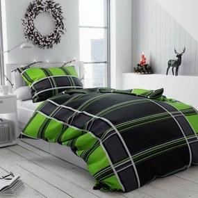 Bavlnené obliečky Prismo zelené