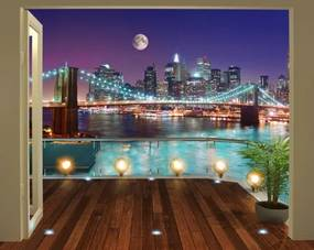 Brooklyn Bridge 3D tapeta Walltastic