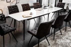 Rozťahovací jedálenský stôl Gunnar, 160-200-240 cm, biely