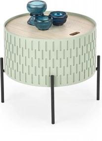 Odkladací stolík SINTRA s úložným priestorom Halmar Zelená
