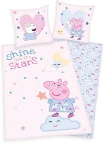 HERDING Obliečky Peppa Pig Stars Bavlna, 40/40 cm