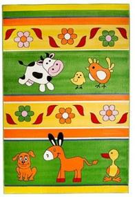 Detský kusový koberec Farma zelený, Velikosti 120x170cm