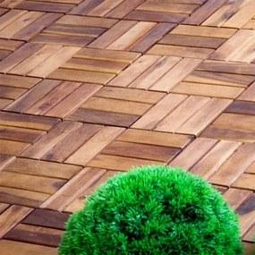 OEM M01532 Dlaždice z agátového dreva, 30 x 30 x 2,4 cm (11 ks