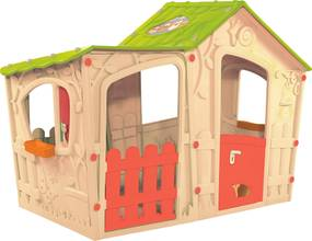 Záhradný domček Keter Magic Villa House béžový /svetlo zelený