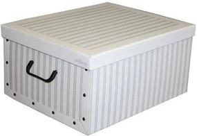 Skladacia úložná krabica Anton biela