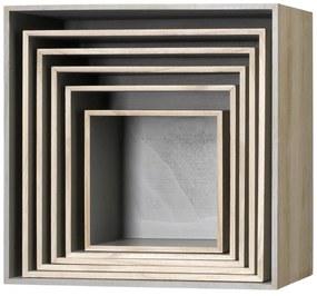 Bloomingville Nástenný box Nature/Grey Veľkosť 6