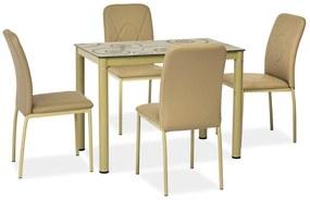 SIGNAL Damar jedálenský stôl béžová