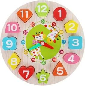 Kruzzel Drevené detské edukačné hodiny, 9356