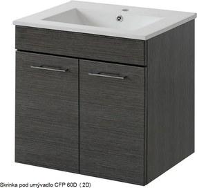 ArtCom Kúpeľňová zostava VIENTO FINO VIENTO: Skrinka pod umývadlo SRP 60D (2D) 820 / (ŠxVxH) 60 x 57 x 45 cm
