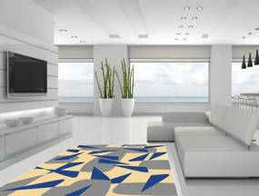 Designový kusový koberec Blue shards - 130x170 cm