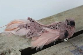 Staroružový vtáčik na štipci so škvrnami 21cm