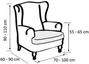 "Forbyt Multielastický poťah na kreslo ""ušiak"", šedá 70 - 110 cm"