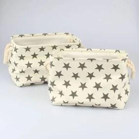 Úložné textilné koše hviezdy