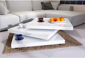 Jurhan & Co.KG Germany Konferenčný stolík JR30 vysoký lesk, biely – otočné platne 360°