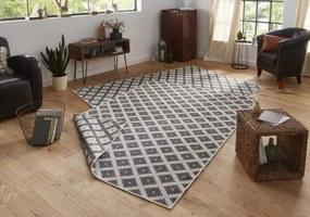 Bougari - Hanse Home koberce Kusový koberec Twin-Wendeteppiche 103126 grau creme - 80x150 cm