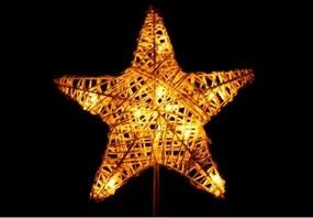 | Vianočná stojacia hviezda 10 LED - zlatá | 18000157