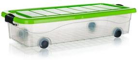 Box úložný pod posteľ na kolieskach PYRAMIDA Brilanz 30 l, zelený