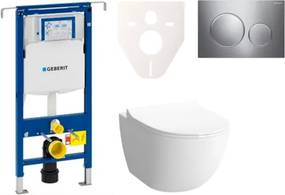 Závesný set WC Sento rim-ex, nádržka Geberit Duofix, tlačidlo Sigma 20 chróm lesk SIKOGES4N41