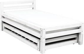 Biela jednolôžková posteľ zo smrekového dreva Benlemi Single Puro Uno, 90 × 180 cm