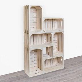 ČistéDrevo Drevené debničky - knižnica 62x102x20 cm
