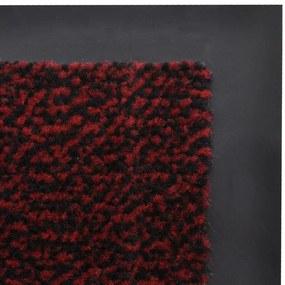 Obdĺžniková rohožka pred dvere, 150 x 90 cm, červená