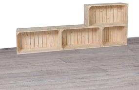Drevobox Drevené debničky obývacia stena 160x60x24 cm