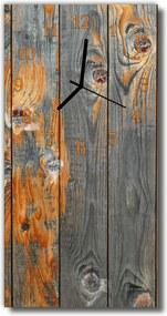 Sklenené hodiny vertikálne  hnedá doska