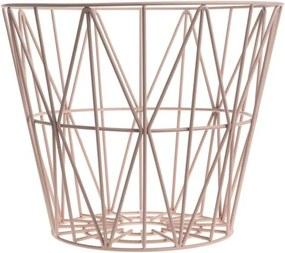 Ferm Living Kôš Wire Basket large, rose