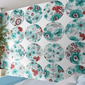 Fototapeta - Turquoise meadow - circle 50x1000