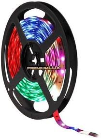 PREMIUMLUX 1m 24V LED pásik 30 SMD 5050 PREMIUM RGB 7.2W/1m IP20 (rolka 50m)