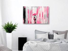 Obraz láska pod ružovým dáždnikom - Umbrella in Love