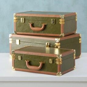 Sada kufrov zelená, 3 kusy