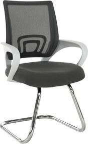 TEMPO KONDELA Sanaz Typ 3 konferenčná stolička sivá / biela