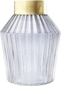 Svetlosivá váza Kare Design Barfly Grey, 30 cm