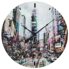 KARE DESIGN Nástenné hodiny Glass Piccadilly Circus Ø80 cm