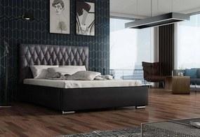 Expedo Čalouněná postel REBECA + rošt, Siena05 s krystalem/Dolaro08, 160x200