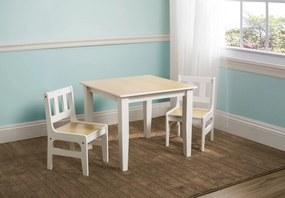 Detský stôl so stoličkami - natural natural TT89512GN