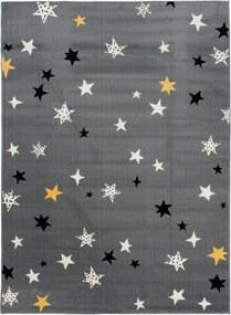 Detský kusový koberec PP Hviezdičky sivý, Velikosti 120x170cm