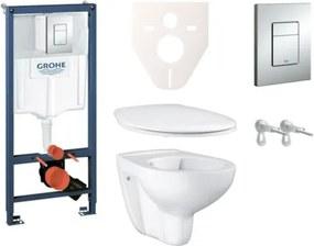 Závesný set WC Bau Ceramic, nádržka Grohe Rapid SL, tlačidlo Skate Cosmopolitan a upevňovacie skrutky SIKOGRS3G0