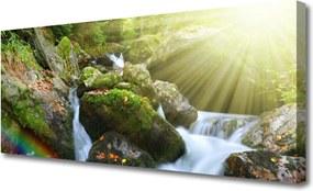 Obraz Canvas Vodopád Dúha Príroda Potok