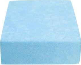 Froté plachta do detskej postieľky svetlo modrá 70x140 cm