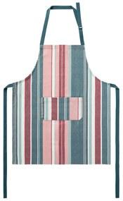 MERADISO® Kuchynská bavlnená zástera (pruhy / bledoružová / červená / zelená / biela), viacfarebná / ružová / červená / zelená / biela (100299582)