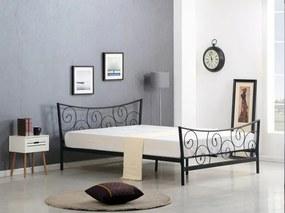Čierna kovová posteľ H59 - 120x200cm