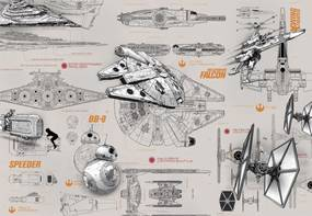 Komar Fototapeta - STAR WARS Blueprints