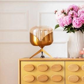 KARE Golden Goblet Ball stolná lampa, mosadz