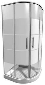 JIKA LYRA PLUS štvrťkruhový sprchovací kút 90 cm, biela, 90 x 90 x 190 cm,
