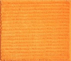 Grund Kúpeľňová predložka Riffle, oranžová, 50x60 cm