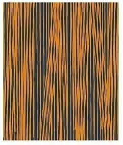 PRESENT TIME Deka Oblique Lines modro žltá