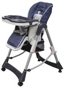 Detská vysoká stolička, výškovo nastaviteľná, tmavomodrá